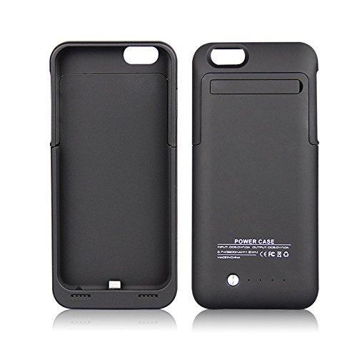 iprotect Power Case Hülle mit integriertem Ersatz Akku 3,5A 3500mAh für Apple iPhone 6 (4,7 Zoll) Batterie in schwarz
