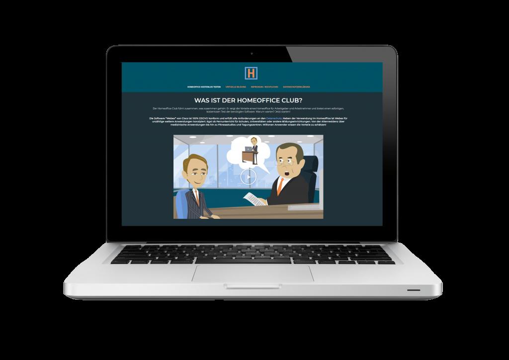 Die Webseite www.komm-in-den-homeoffice.club nun ist vollständig mit Pardot integriert.